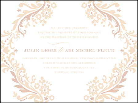 Fleur Letterpress Invitation Design Medium