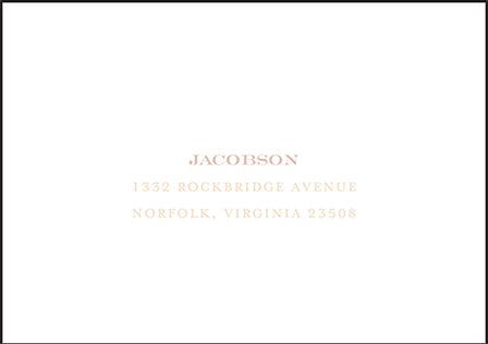 Fleur Letterpress Reply Envelope Design Medium