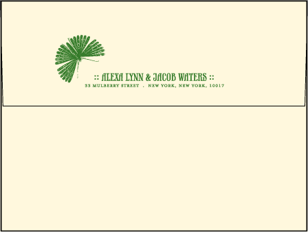 Flit Letterpress Envelope Design Medium