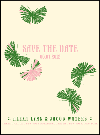 Flit Letterpress Save The Date Design Medium