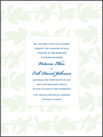 Flora Letterpress Invitation Design Medium
