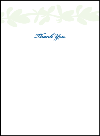 Flora Letterpress Thank You Card Flat Design Medium