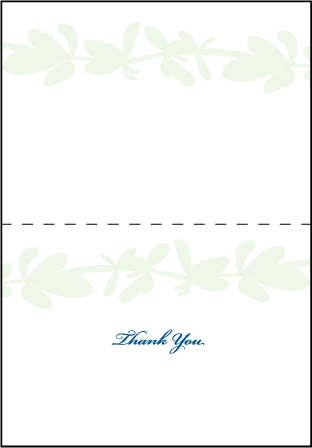 Flora Letterpress Thank You Card Fold Design Medium