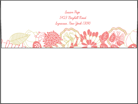 Floral Wreath Letterpress Envelope Design Medium