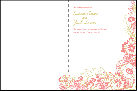 Floral Wreath Letterpress Program Design Medium