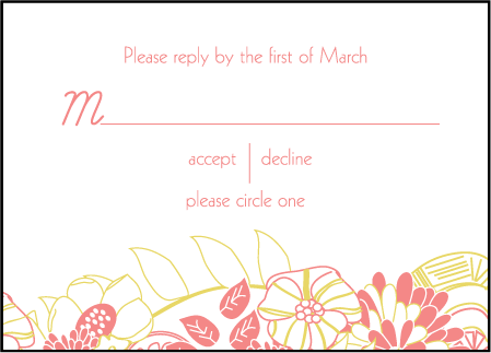 Floral Wreath Letterpress Reply Design Medium