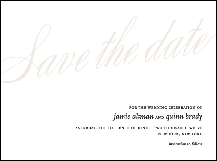 Florian Script Letterpress Save The Date Design Medium