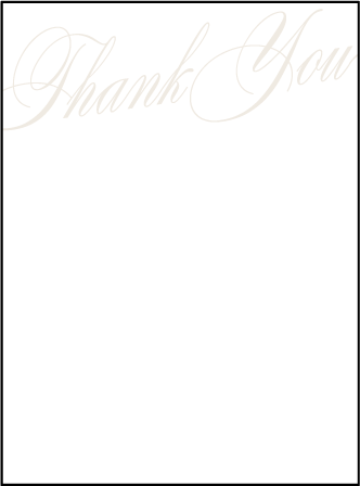 Florian Script Letterpress Thank You Card Flat Design Medium