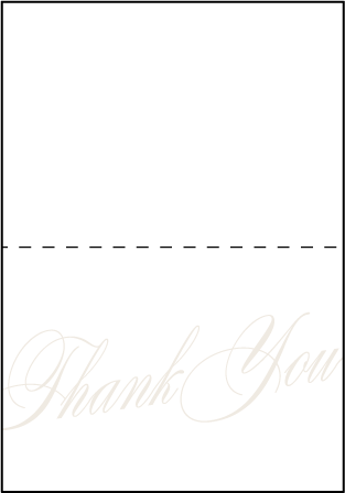 Florian Script Letterpress Thank You Card Fold Design Medium