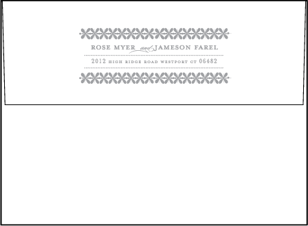 Florosa Letterpress Envelope Design Medium
