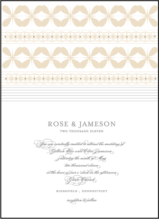 Florosa Letterpress Invitation Design Medium
