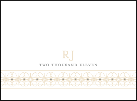 Florosa Letterpress Placecard Flat Design Medium