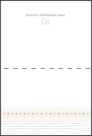 Florosa Letterpress Placecard Fold Design Medium
