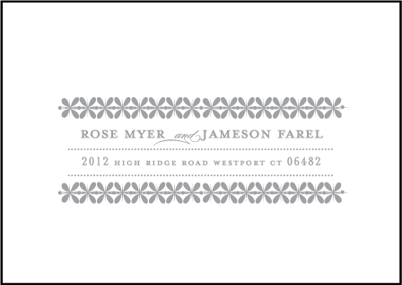 Florosa Letterpress Reply Envelope Design Medium