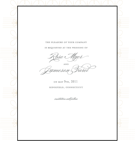 Florosa Letterpress Save The Date Design Medium