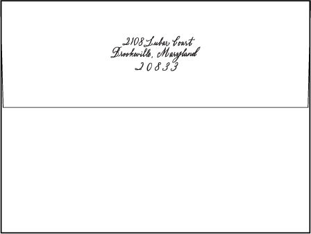Flourish Letterpress Envelope Design Medium