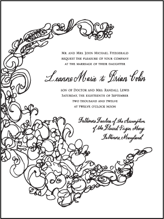 Flourish Letterpress Invitation Design Medium