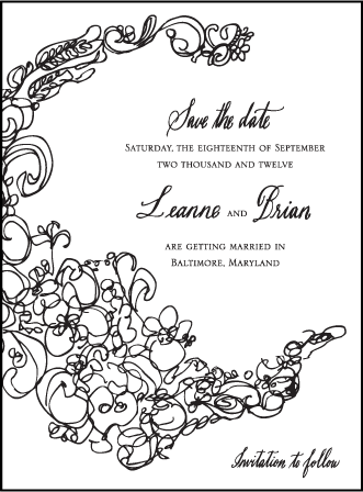 Flourish Letterpress Save The Date Design Medium