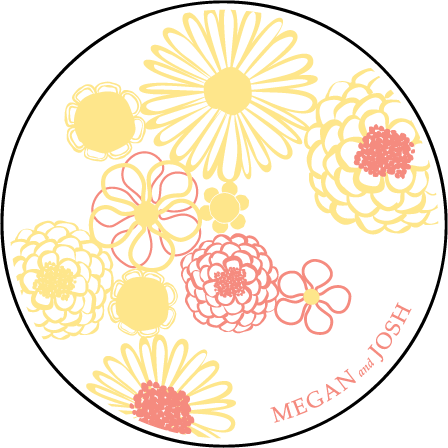 Floweret Letterpress Coaster Design Medium