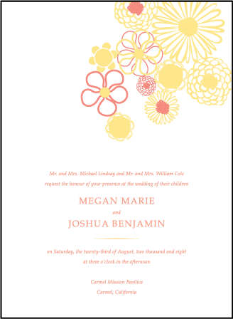 Floweret Letterpress Invitation Design Medium