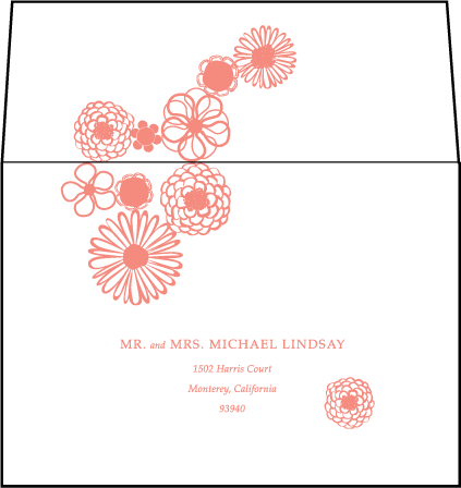 Floweret Letterpress Reply Envelope Design Medium