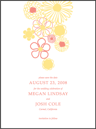 Floweret Letterpress Save The Date Design Medium