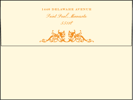 Fontaine Letterpress Envelope Design Medium