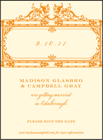Fontaine Letterpress Save The Date Design Medium