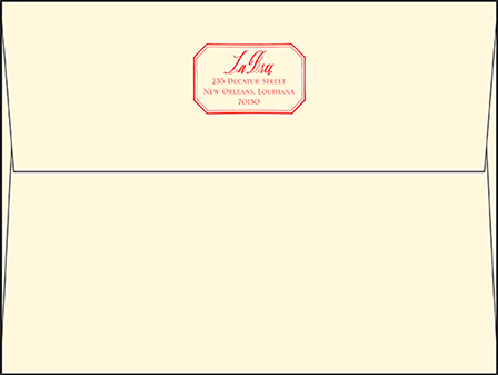 French Quarter Letterpress Envelope Design Medium