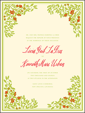 French Quarter Letterpress Invitation Design Medium