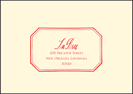 French Quarter Letterpress Reply Envelope Design Medium