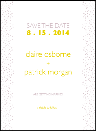 Fresh Letterpress Save The Date Design Medium