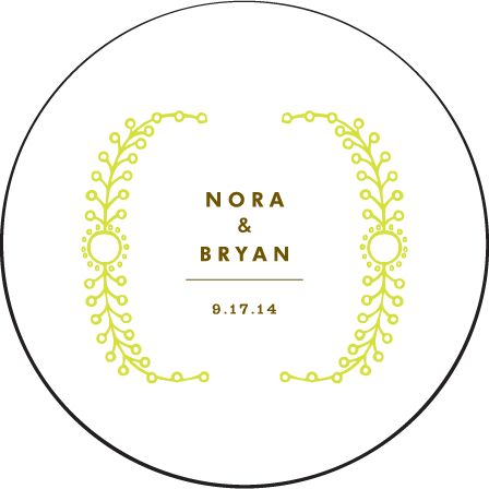 Garden Vine Letterpress Coaster Design Medium