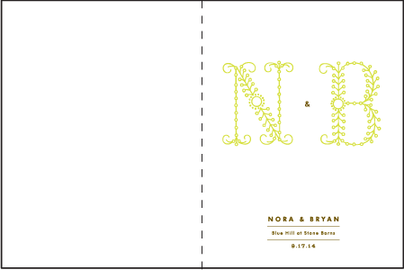 Garden Vine Letterpress Program Design Medium