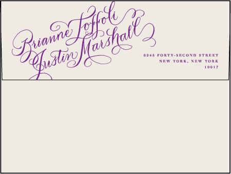Gilded Romance Letterpress Envelope Design Medium