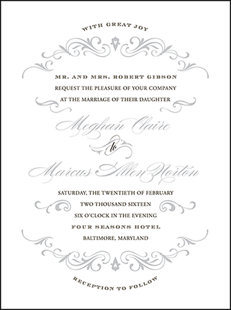Gilford Letterpress Invitation Design Medium