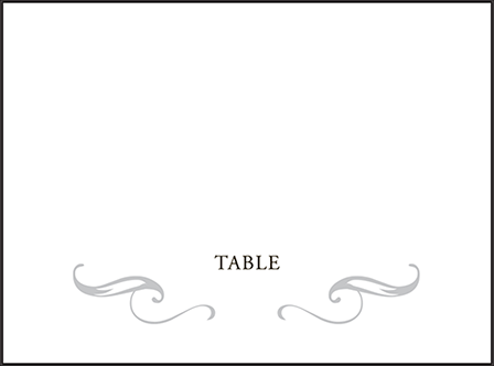 Gilford Letterpress Placecard Flat Design Medium