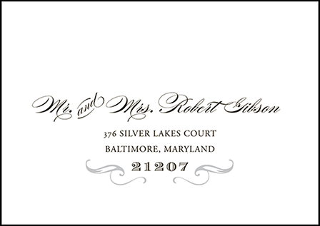 Gilford Letterpress Reply Envelope Design Medium