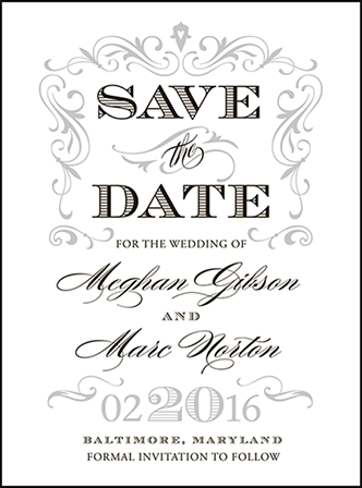 Gilford Letterpress Save The Date Design Medium