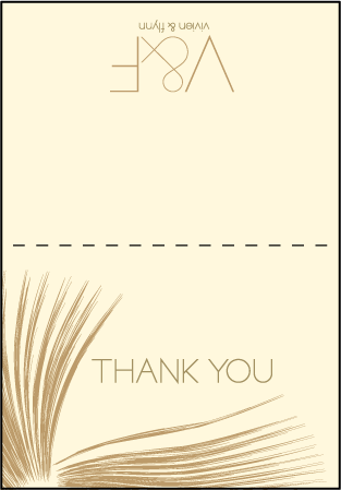 Glamorous Blooms Letterpress Thank You Card Fold Design Medium