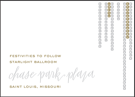Glitterati Letterpress Reception Design Medium