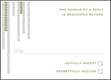 Glitterati Letterpress Reply Design Medium