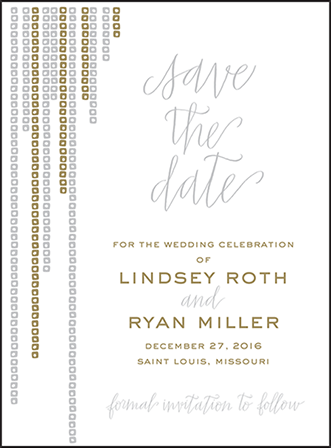 Glitterati Letterpress Save The Date Design Medium