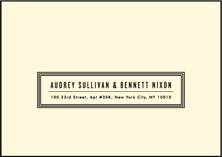 Gotham Letterpress Reply Envelope Design Medium