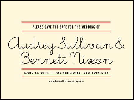 Gotham Letterpress Save The Date Design Medium