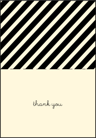 Gotham Letterpress Thank You Card Fold Design Medium