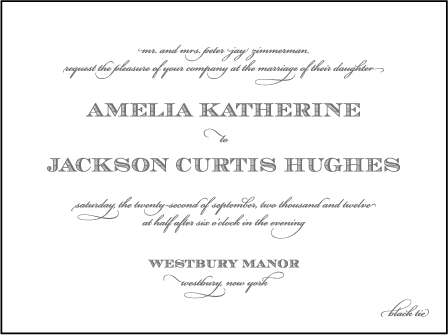 Gracelyn Vintage Letterpress Invitation Design Medium