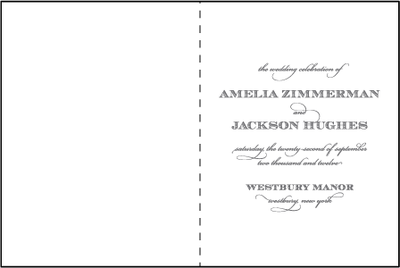 Gracelyn Vintage Letterpress Program Design Medium