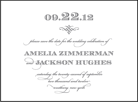 Gracelyn Vintage Letterpress Save The Date Design Medium