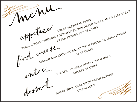 Gracieux Letterpress Menu Design Medium